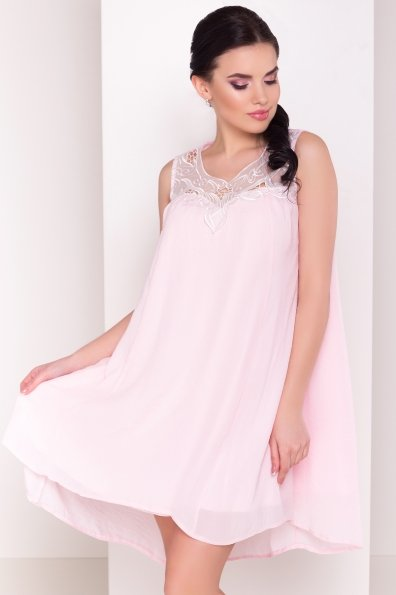 Платье Альбина 3110 Цвет:  Розовый Светлый