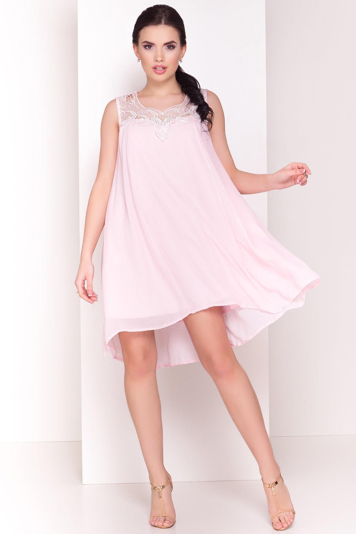 Платье Альбина 3110 АРТ. 16102 Цвет:  Розовый Светлый - фото 5, интернет магазин tm-modus.ru