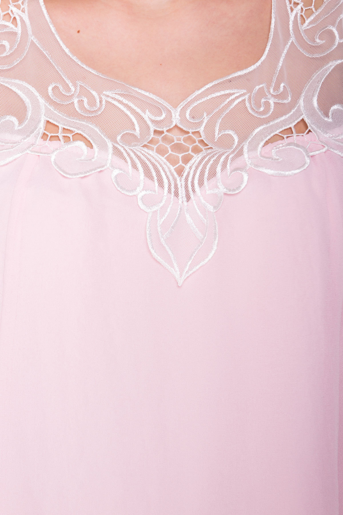 Платье свободного кроя Альбина 3110 АРТ. 16102 Цвет:  Розовый Светлый - фото 4, интернет магазин tm-modus.ru