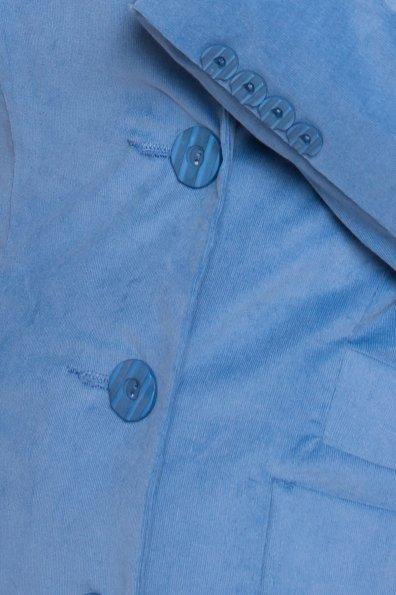 Вельветовый плащ Банши 4642 Цвет: Голубой