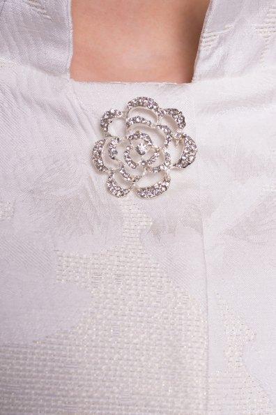 Укороченный плащ прямого кроя Флоренция 4674 Цвет: Молоко/серебро