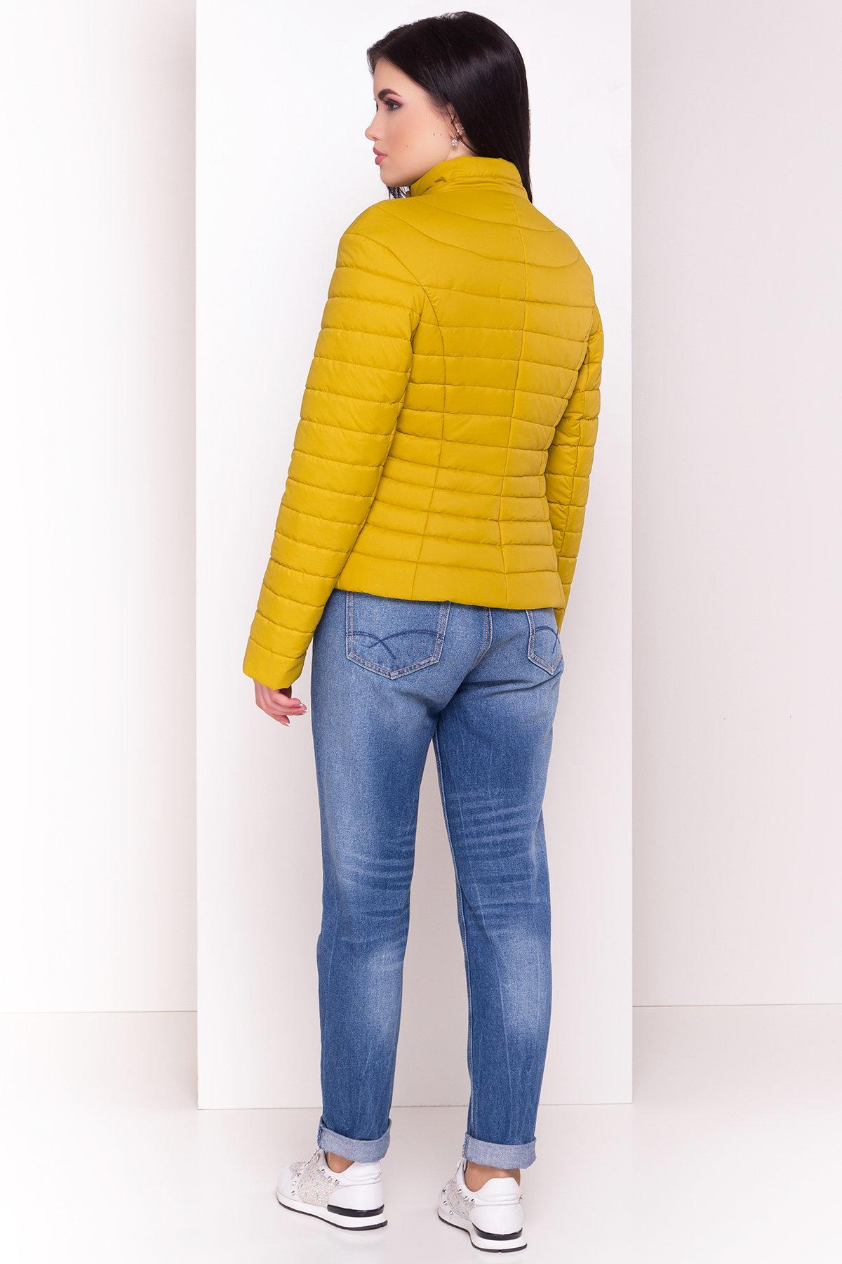 Куртка горчичный цвет Флориса 4560 АРТ. 21643 Цвет: Горчица - фото 3, интернет магазин tm-modus.ru