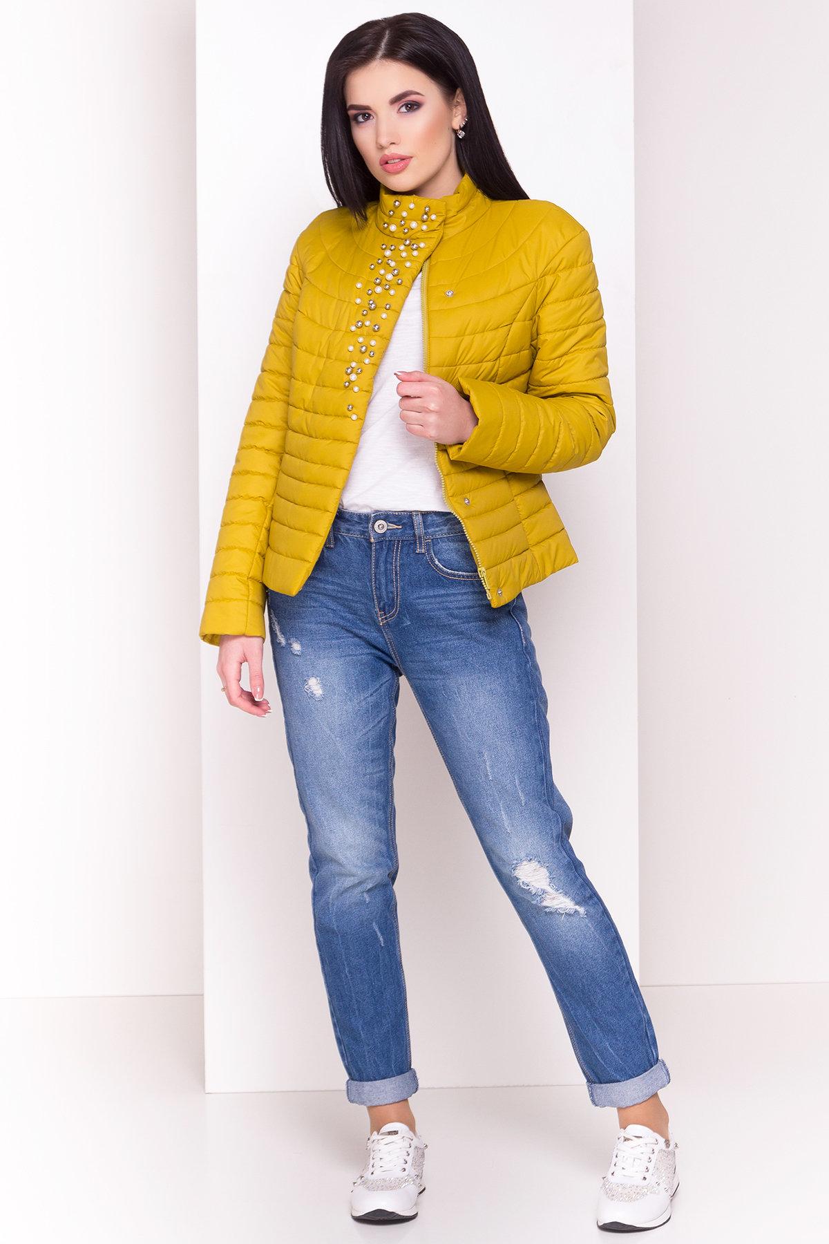 Куртка горчичный цвет Флориса 4560 АРТ. 21643 Цвет: Горчица - фото 1, интернет магазин tm-modus.ru