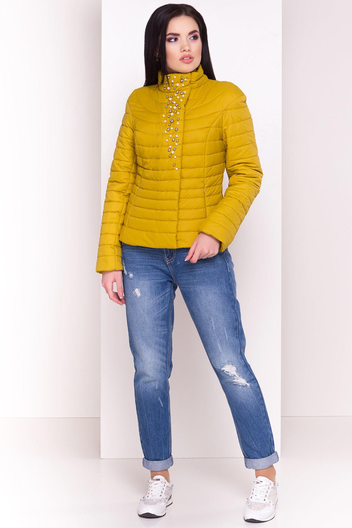 женские куртки оптом Куртка горчичный цвет Флориса 4560