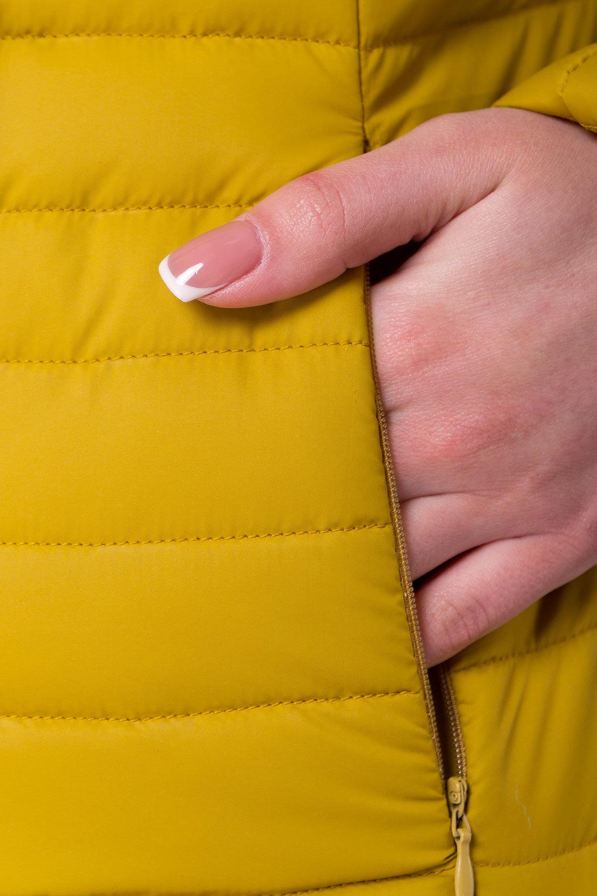 Куртка горчичный цвет Флориса 4560 АРТ. 21643 Цвет: Горчица - фото 4, интернет магазин tm-modus.ru