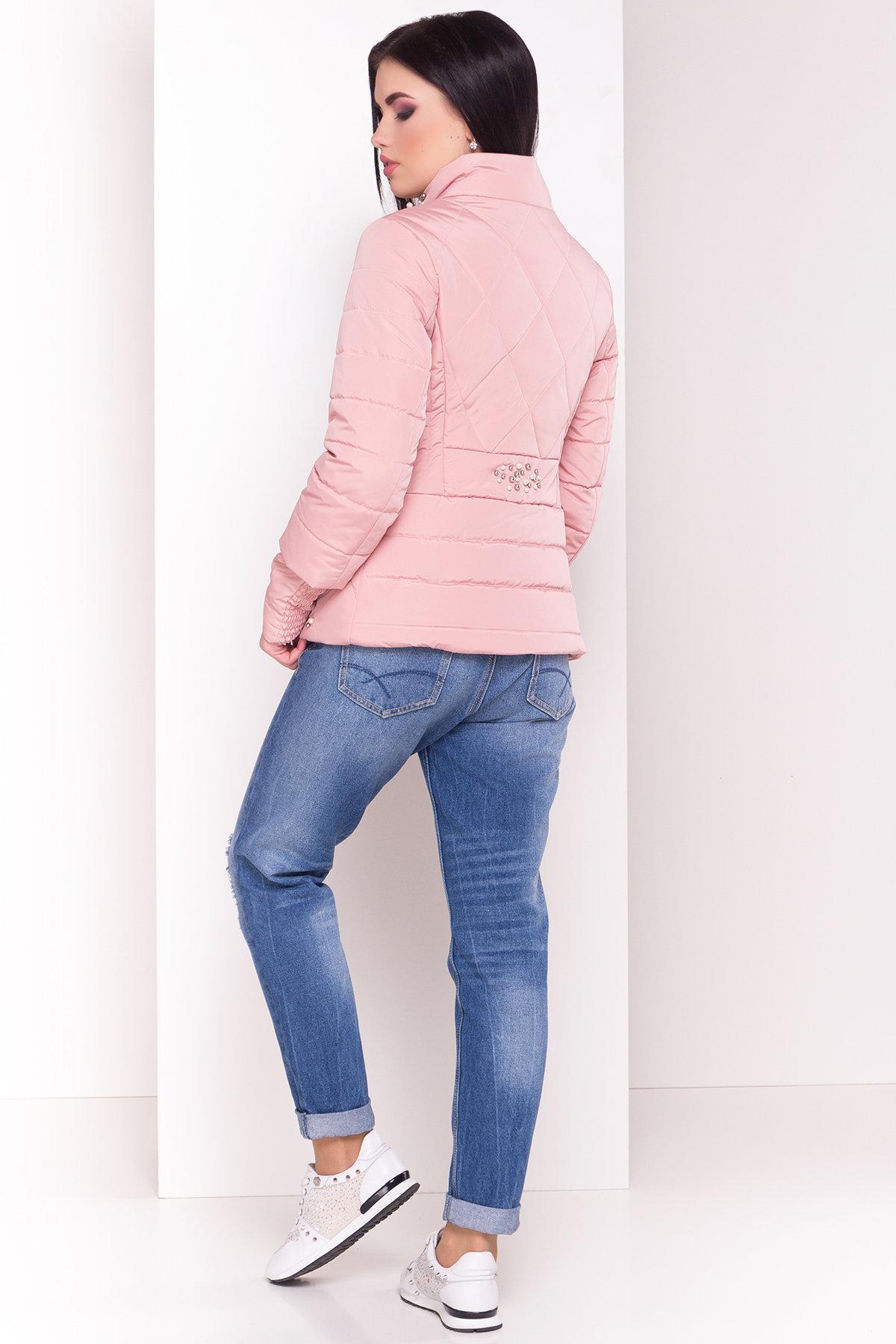 Куртка с воротником стойка Мирцелла 4591 АРТ. 33764 Цвет: Пудра - фото 3, интернет магазин tm-modus.ru