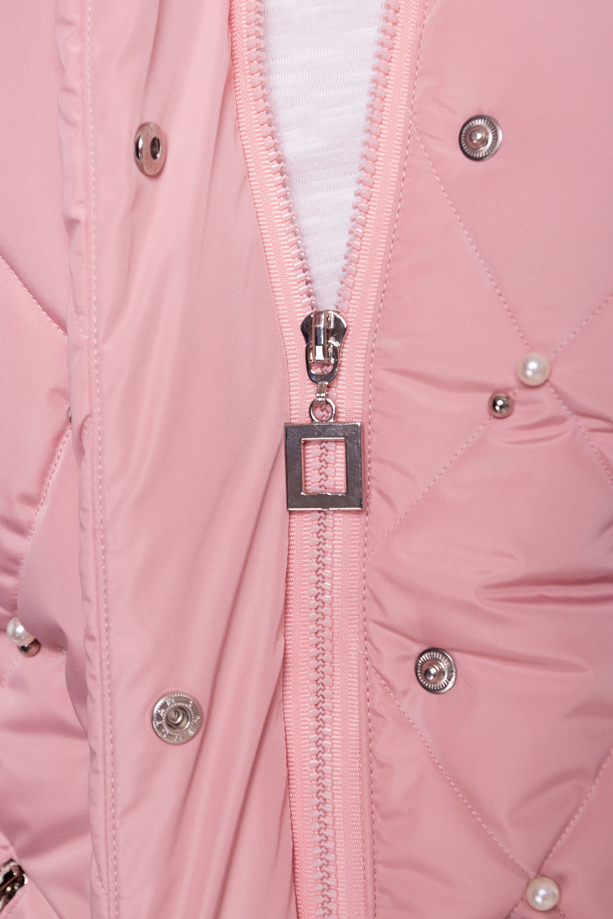 Куртка с воротником стойка Мирцелла 4591 АРТ. 33764 Цвет: Пудра - фото 4, интернет магазин tm-modus.ru