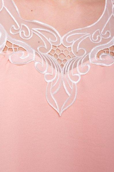 Платье свободного кроя Альбина 3110 Цвет: Персик