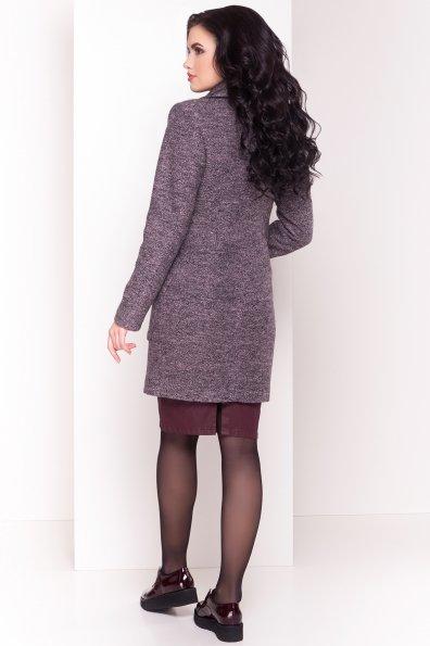 Пальто Габриэлла 4419 Цвет: Черный/розовый-LW19