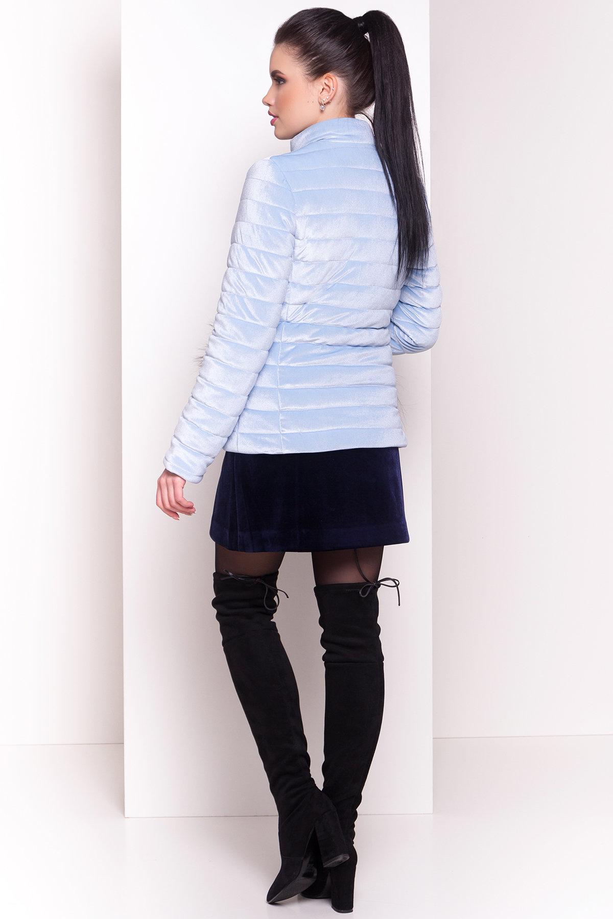 Куртка с мехом на карманах Дезире 4452 АРТ. 21968 Цвет: Голубой - фото 8, интернет магазин tm-modus.ru