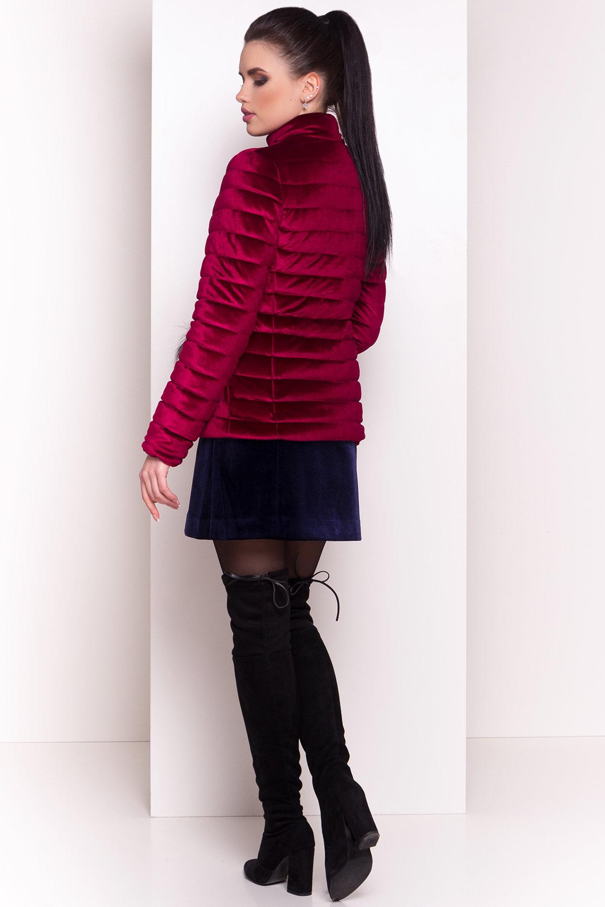 Куртка с мехом на карманах Дезире 4452 АРТ. 21637 Цвет: Марсала - фото 8, интернет магазин tm-modus.ru