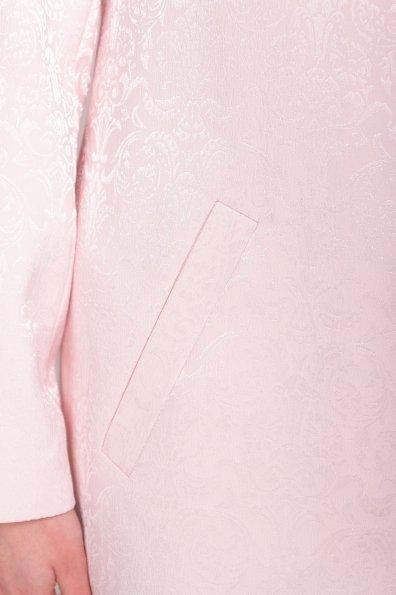 Свободный плащ со скрытой застежкой Фабио 4700 Цвет: Пудра