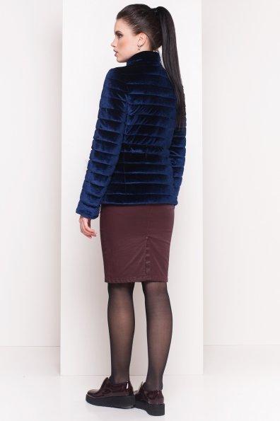 Куртка с мехом на карманах Дезире 4452 Цвет: Темно-синий