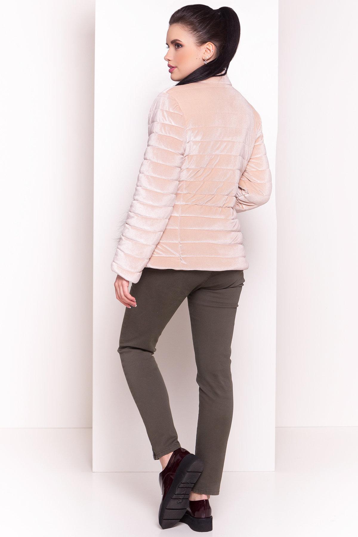 Куртка с мехом на карманах Дезире 4452 Цвет: Бежевый