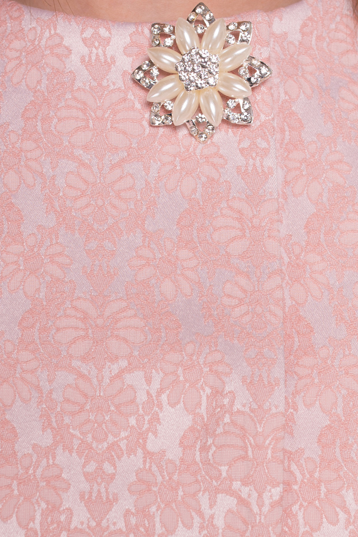 Плащ прямого кроя Фабио 4766 Цвет: Персик/цветы
