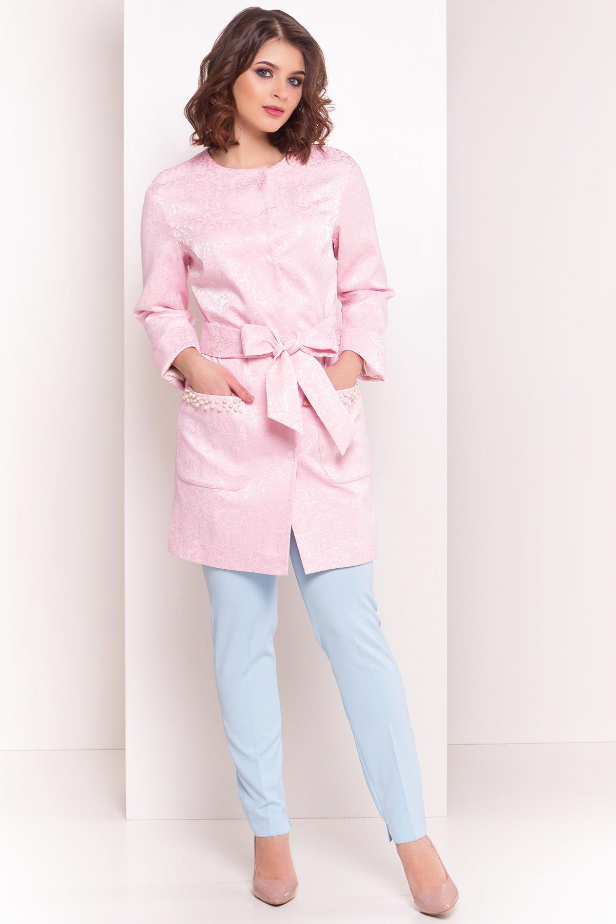 Укороченный плащ Делия 4675 АРТ. 34105 Цвет: Розовый - фото 1, интернет магазин tm-modus.ru