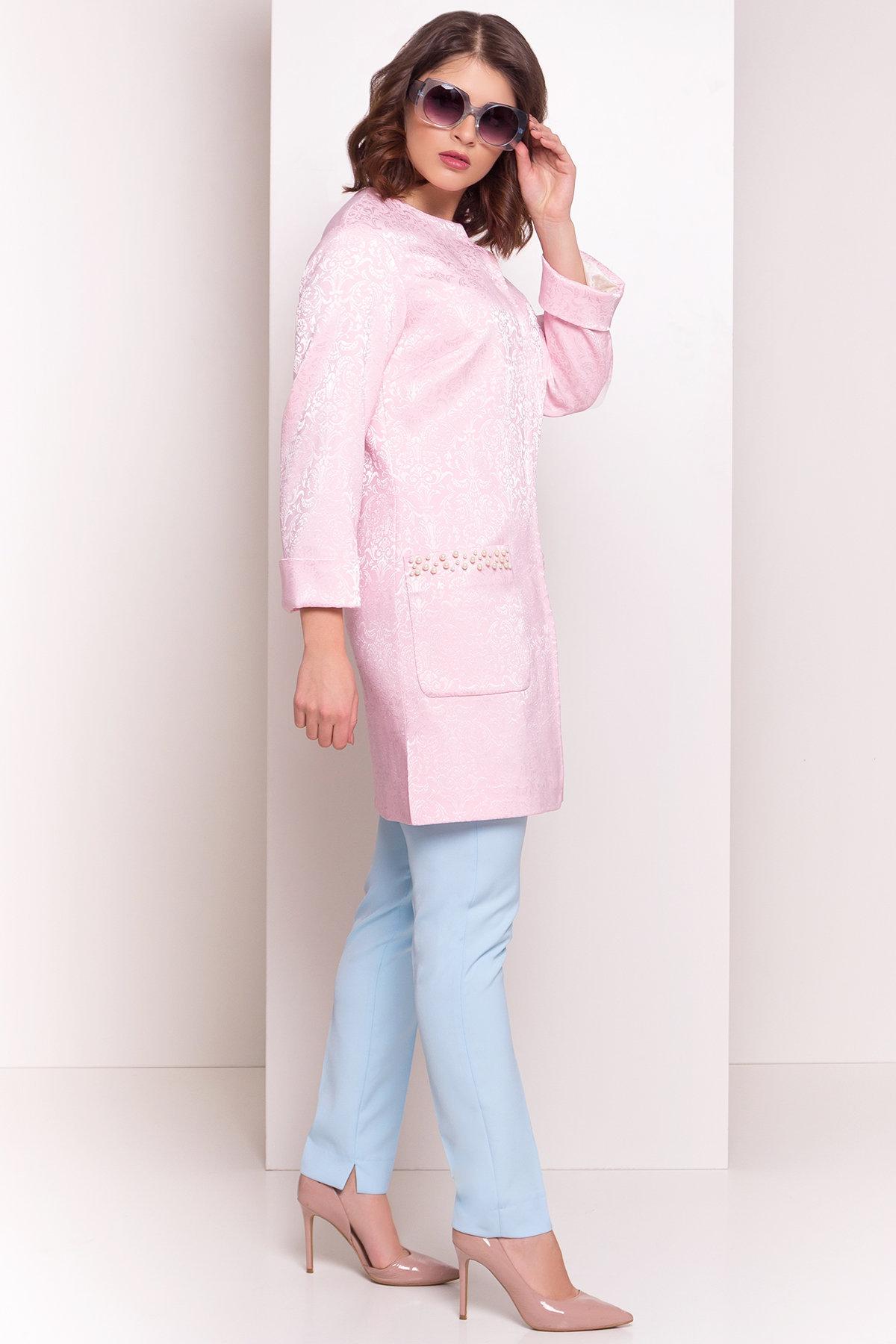 Укороченный плащ Делия 4675 АРТ. 34105 Цвет: Розовый - фото 4, интернет магазин tm-modus.ru