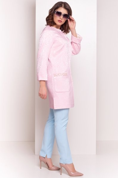 Укороченный плащ Делия 4675 Цвет: Розовый
