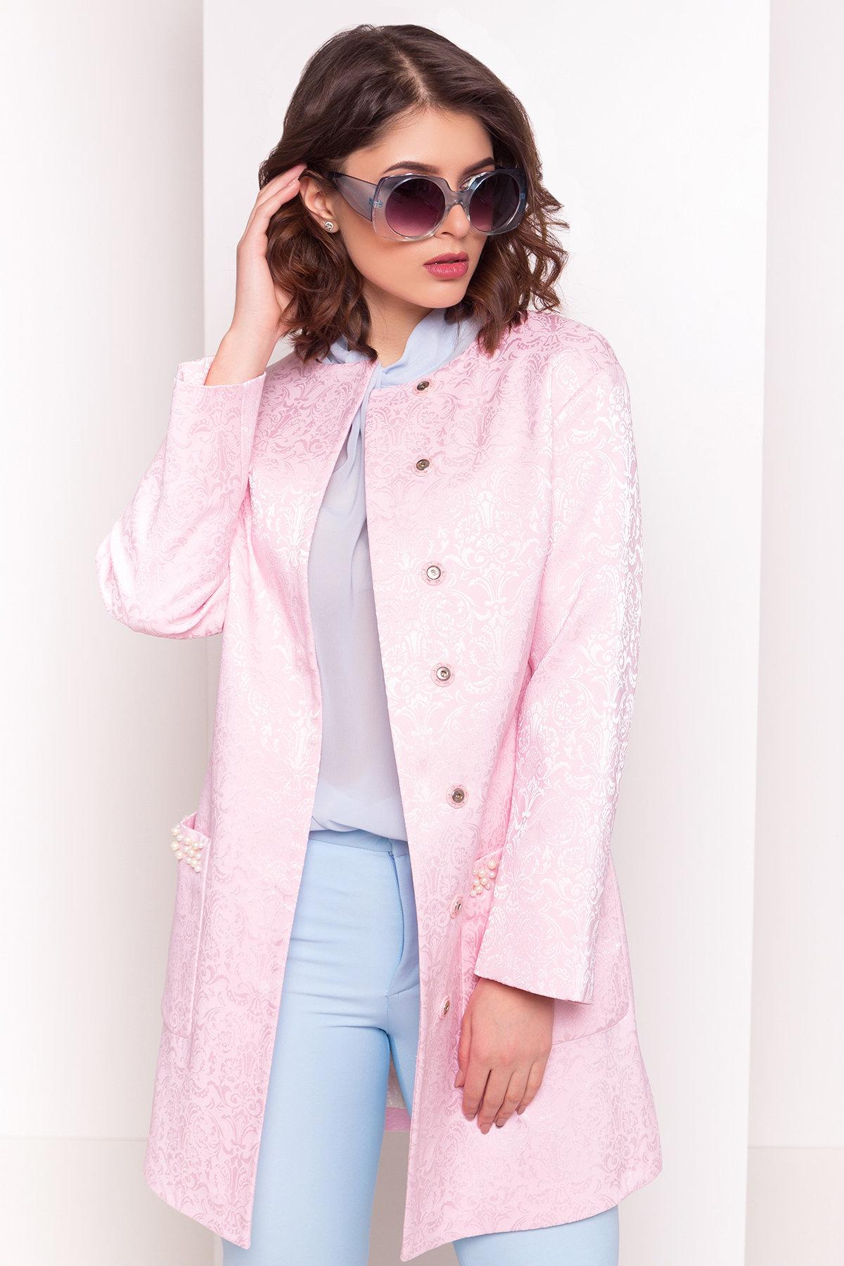 Укороченный плащ Делия 4675 АРТ. 34105 Цвет: Розовый - фото 3, интернет магазин tm-modus.ru
