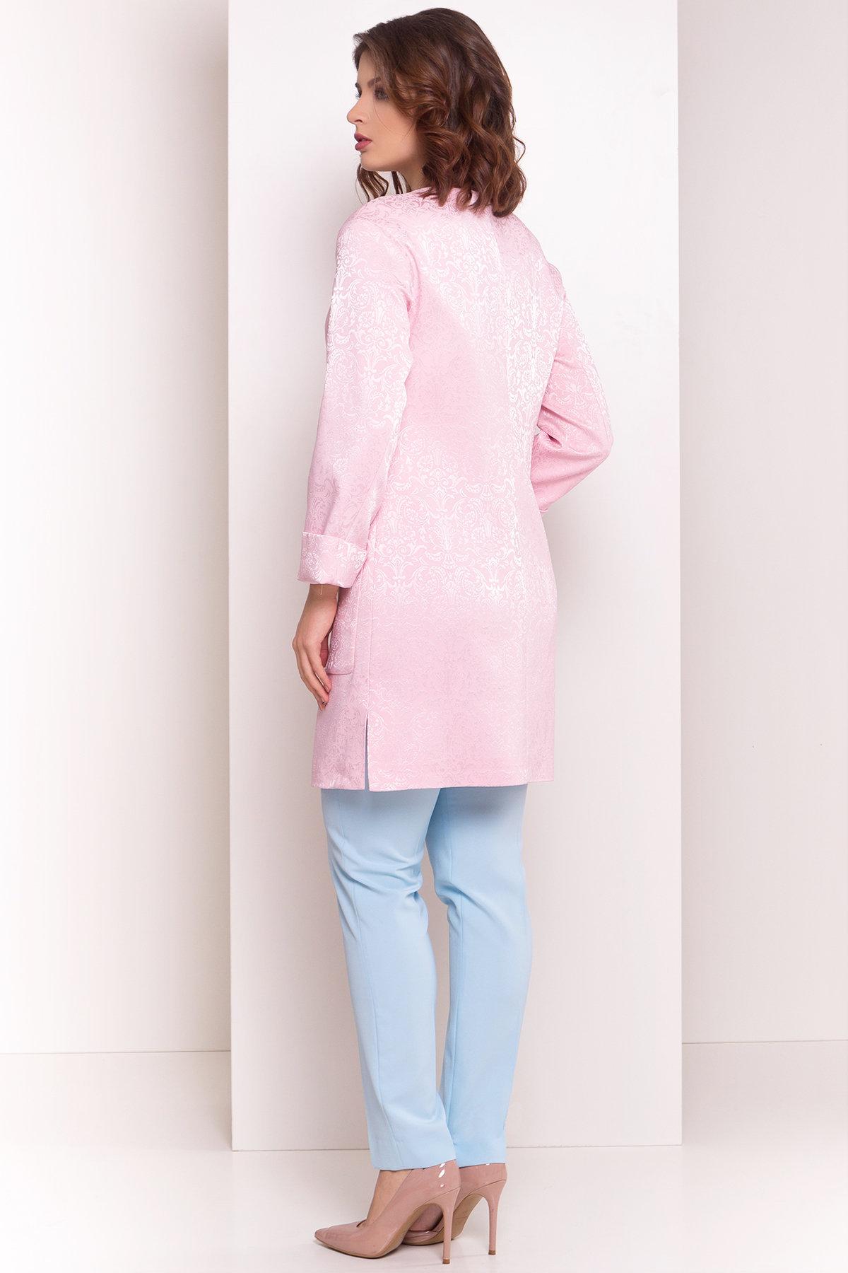 Укороченный плащ Делия 4675 АРТ. 34105 Цвет: Розовый - фото 5, интернет магазин tm-modus.ru