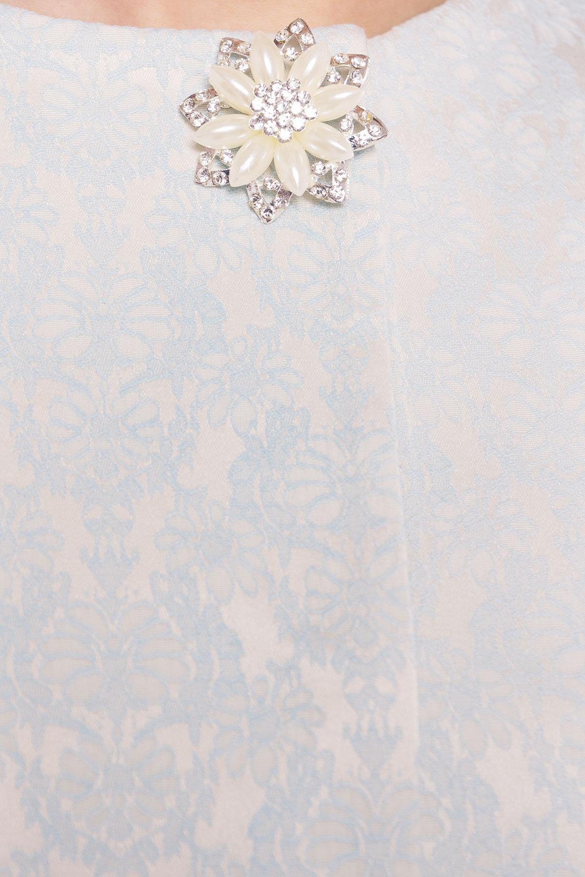 Плащ прямого кроя Фабио 4766 Цвет: Мята/цветы