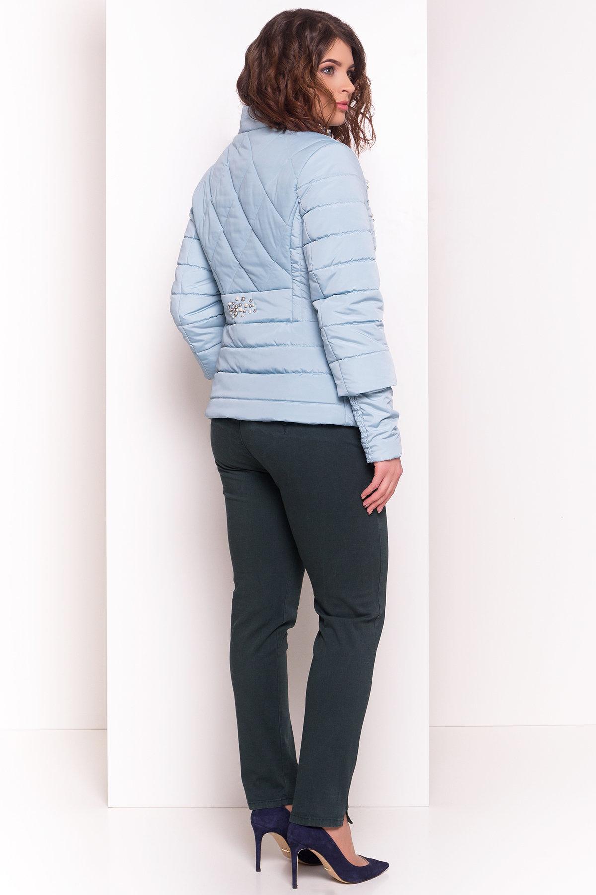 Куртка с воротником стойка Мирцелла 4591 Цвет: Голубой