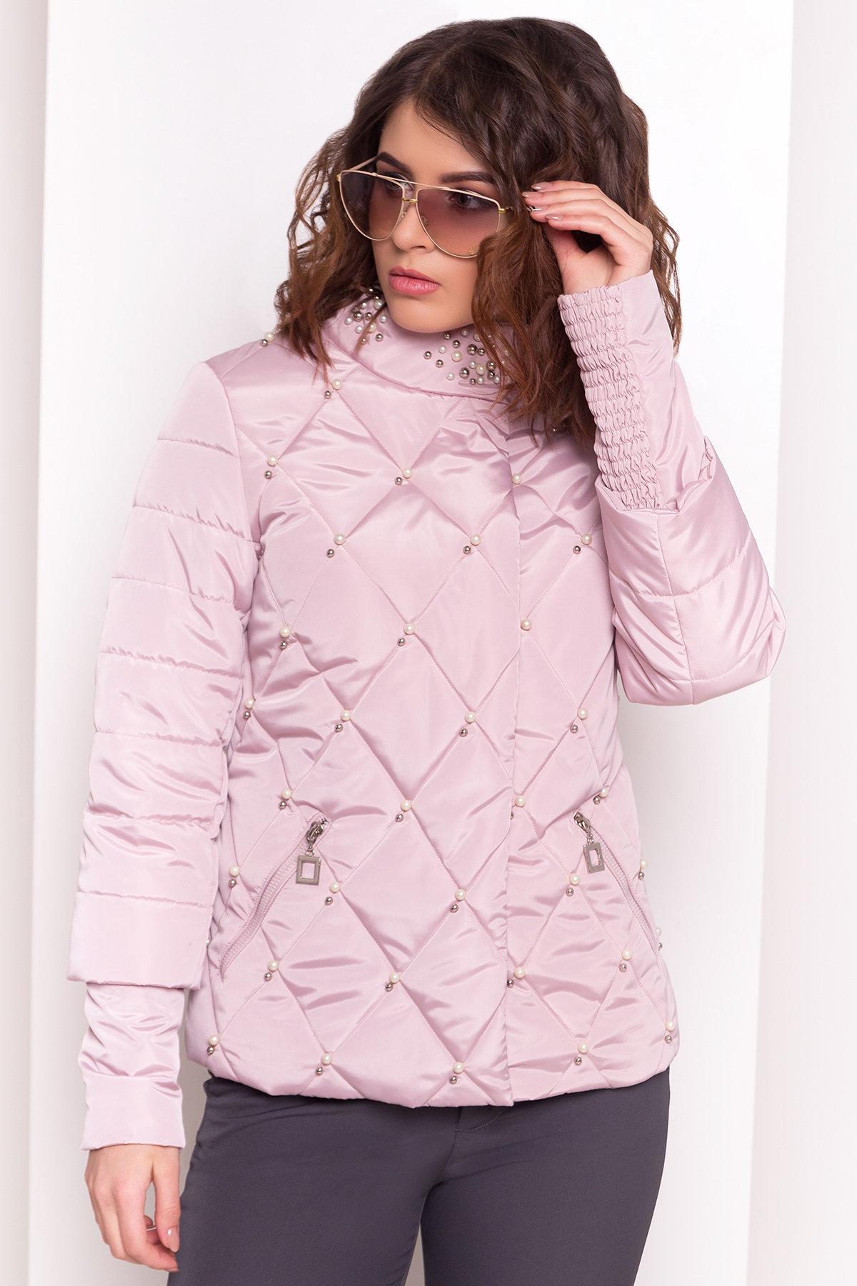 Куртка с воротником стойка Мирцелла 4591 Цвет: Серый/розовый