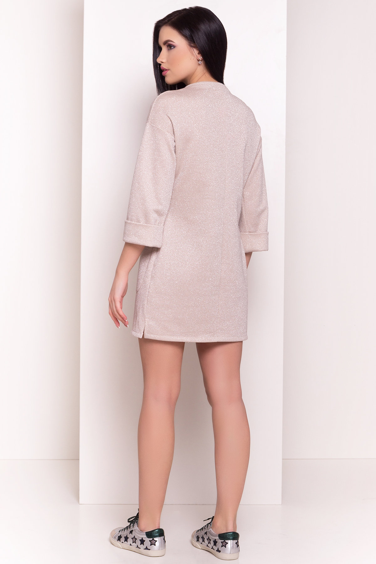 Платье Линэ 4778 АРТ. 34266 Цвет: Бежевый - фото 3, интернет магазин tm-modus.ru