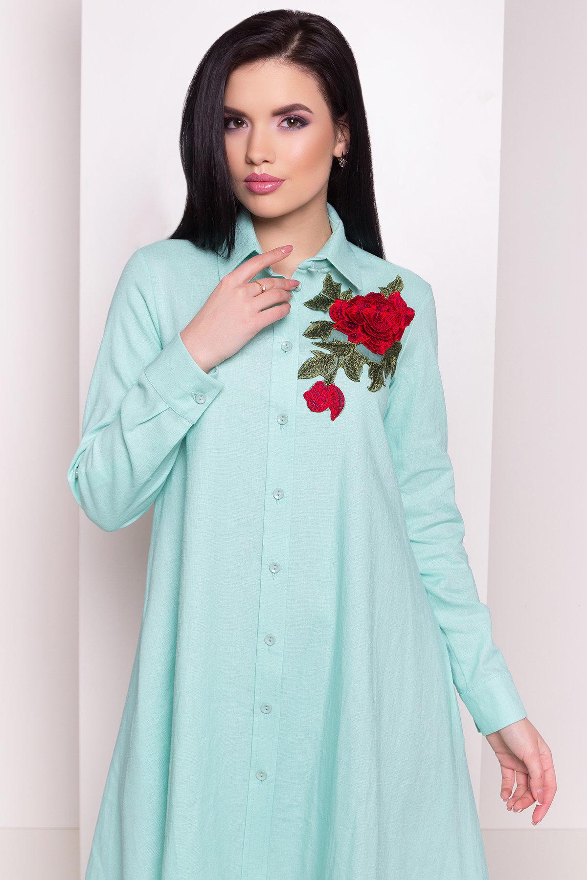 Платье Бри 2706 АРТ. 34088 Цвет: Мята - фото 3, интернет магазин tm-modus.ru