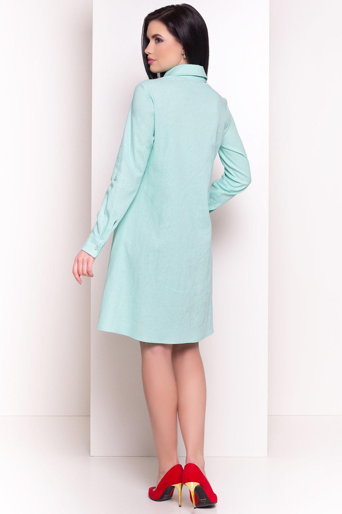 Платье Бри 2706 АРТ. 34088 Цвет: Мята - фото 4, интернет магазин tm-modus.ru