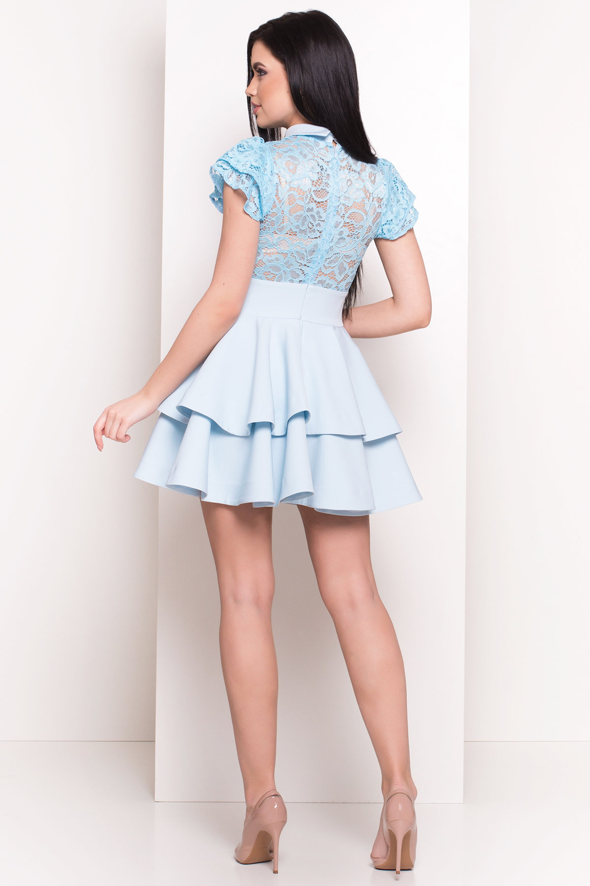 Платье Николь 4557 Цвет: Голубой