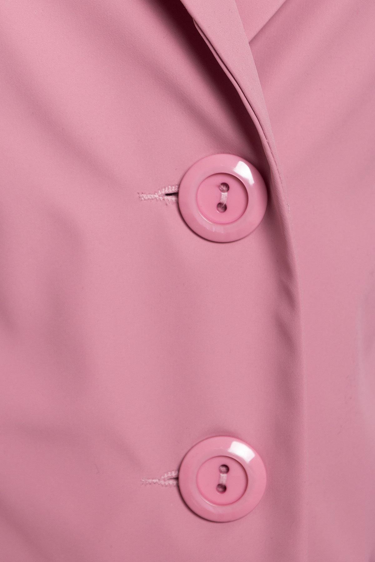 Плащ с накладными карманами Миссони 2087 АРТ. 13590 Цвет: Чайная роза  - фото 5, интернет магазин tm-modus.ru