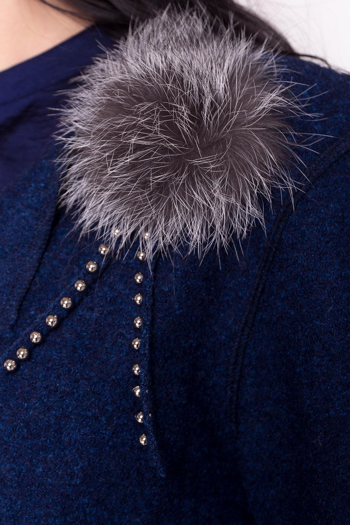 Стильный кардиган прямого кроя Априори 4697 Цвет: Темно-синий/электрик-LW27