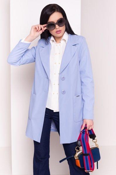 Плащ с накладными карманами Миссони 2087 Цвет: Голубой