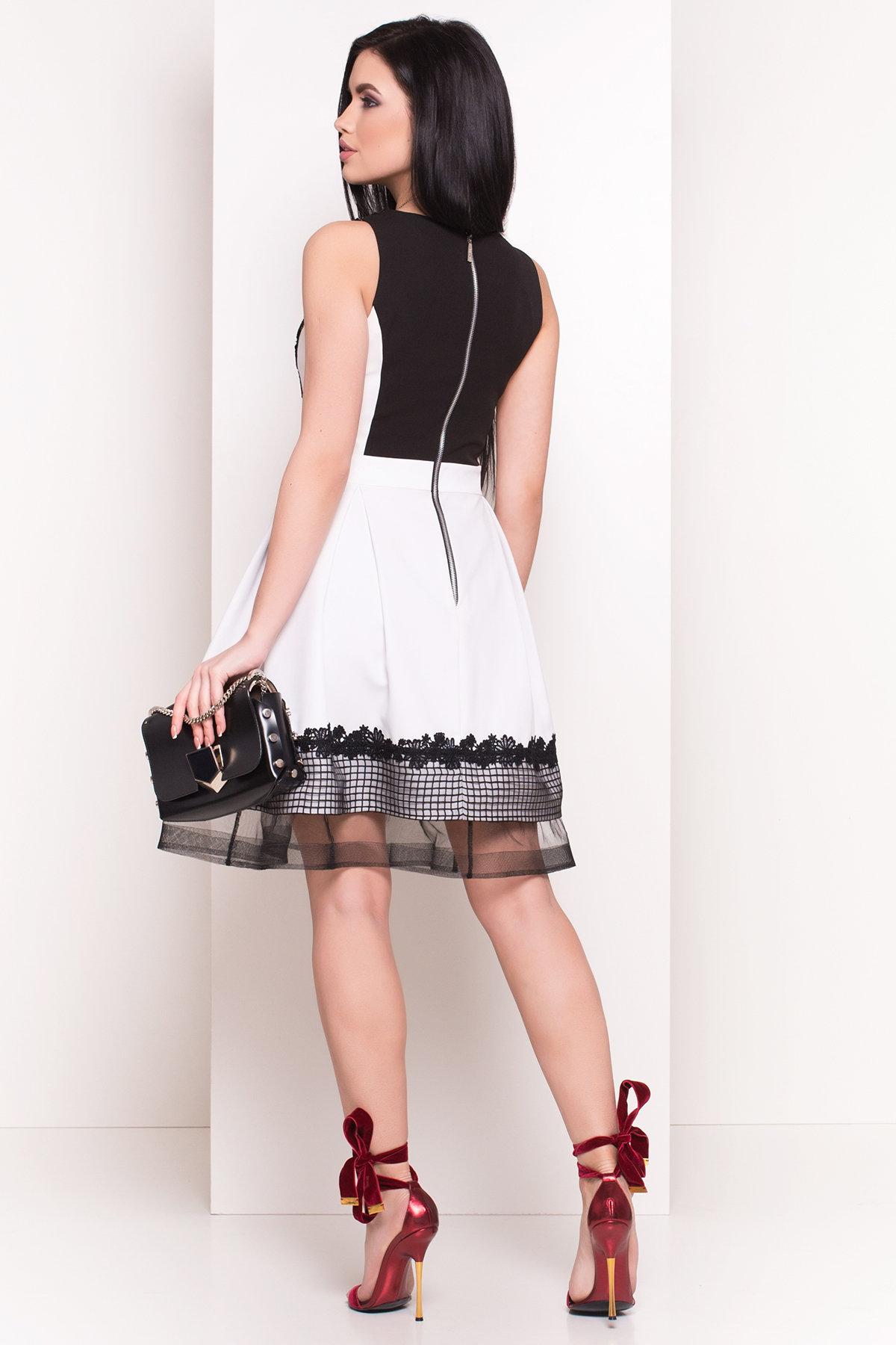 Платье Властелина 4802 Цвет: Белый/черный