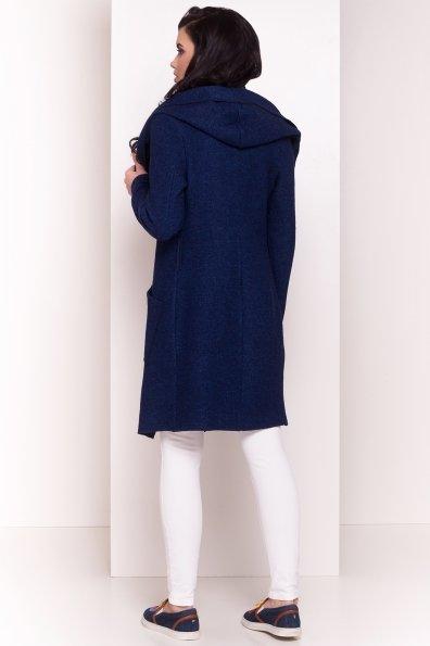 Шерстяной кардиган с капюшоном Эссе 4737 Цвет: Темно-синий/электрик-LW27