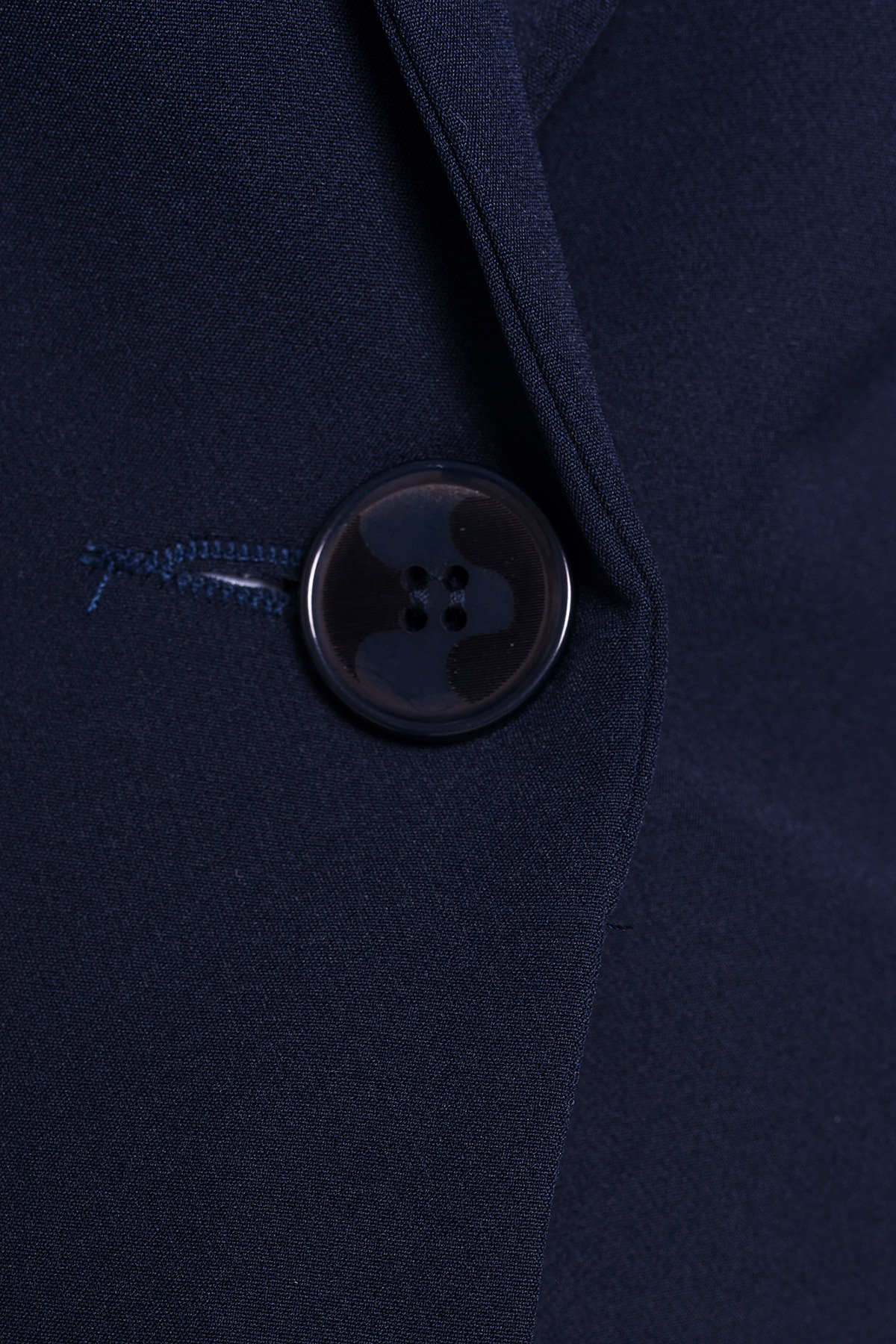 Однотонный приталенный жакет Эдвин 2734 Цвет: Тёмно-синий