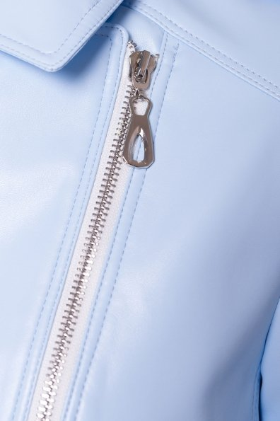 Куртка косуха из эко-кожи Рокер 4832 Цвет: Голубой