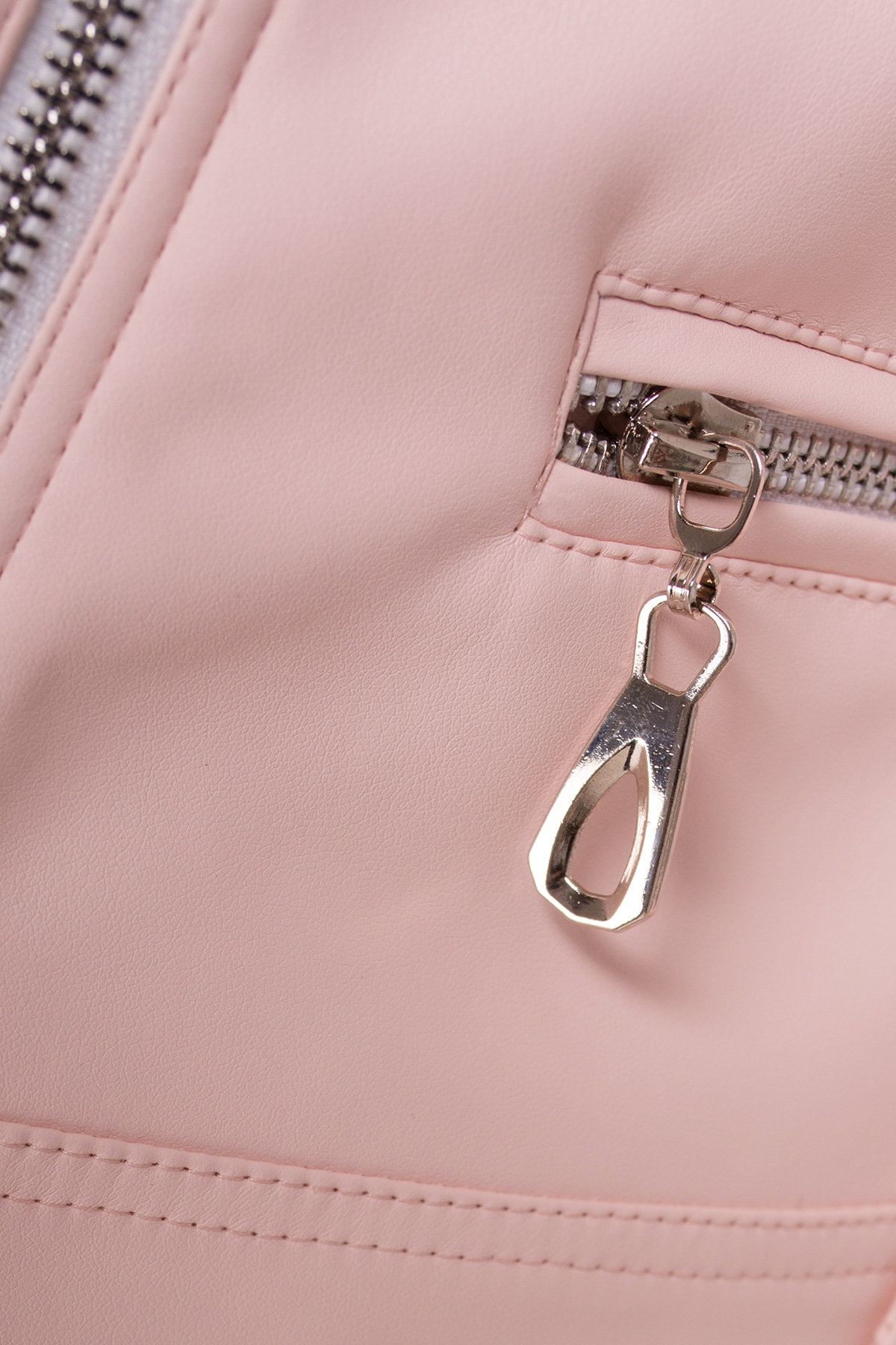 Куртка косуха из эко-кожи Рокер 4832 Цвет: Пудра