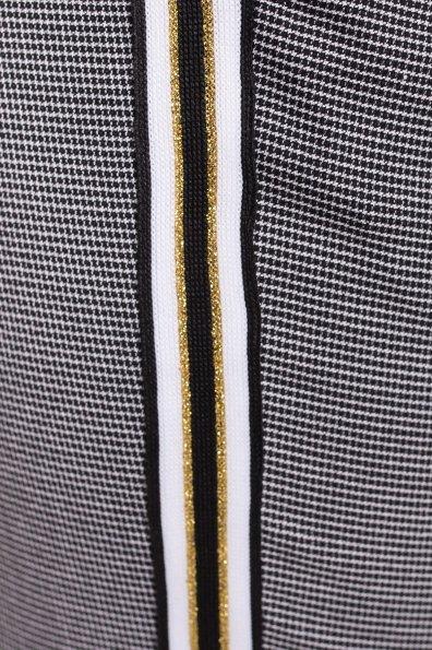 Брюки в клетку Джианни 4721 Цвет: Черный/белый/желтый