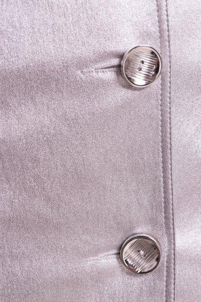 Приталенный плащ Триумф  4683 Цвет: Серебро
