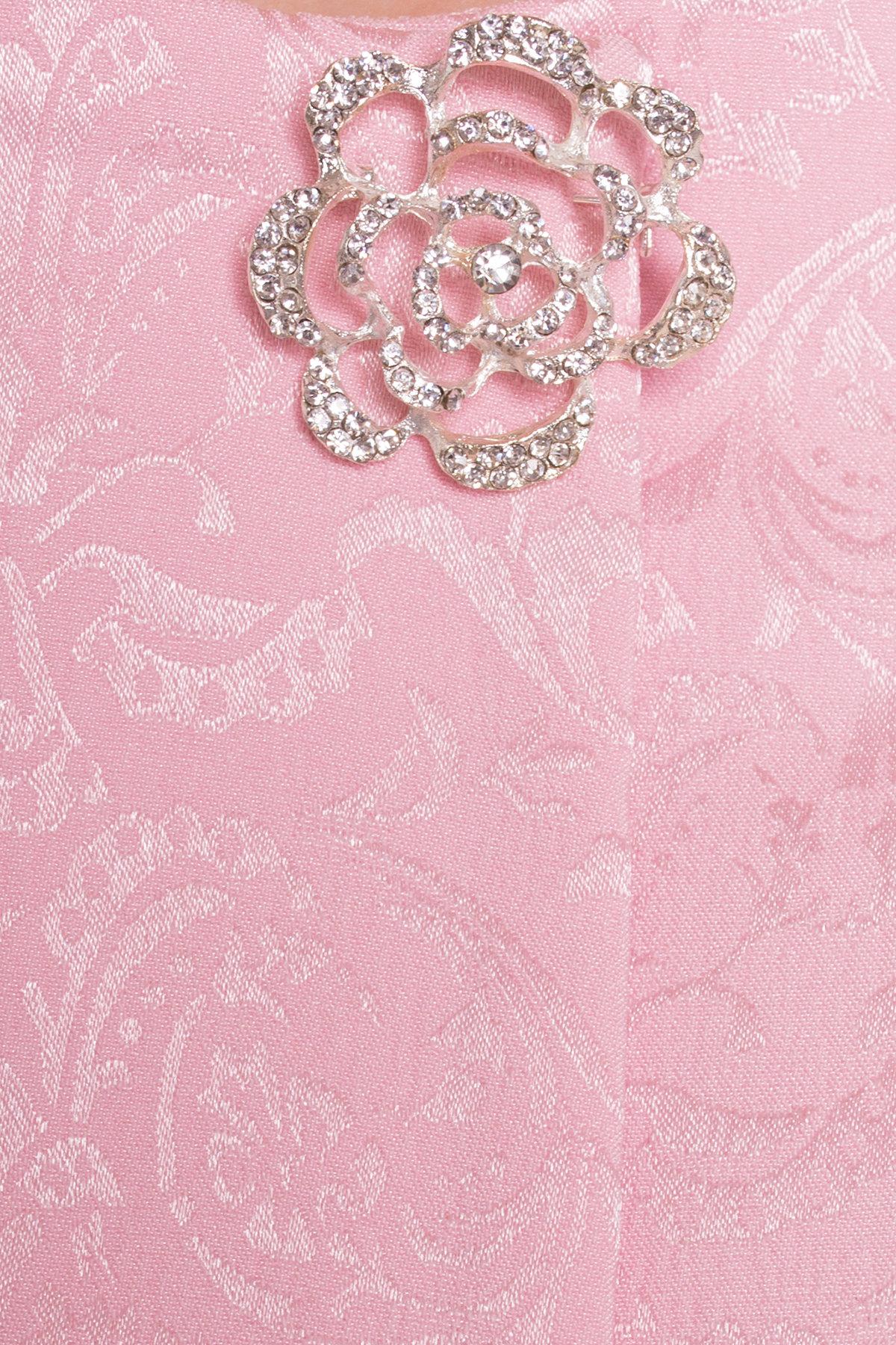 Свободный плащ со скрытой застежкой Фабио 4700 АРТ. 33838 Цвет: Розовый - фото 4, интернет магазин tm-modus.ru