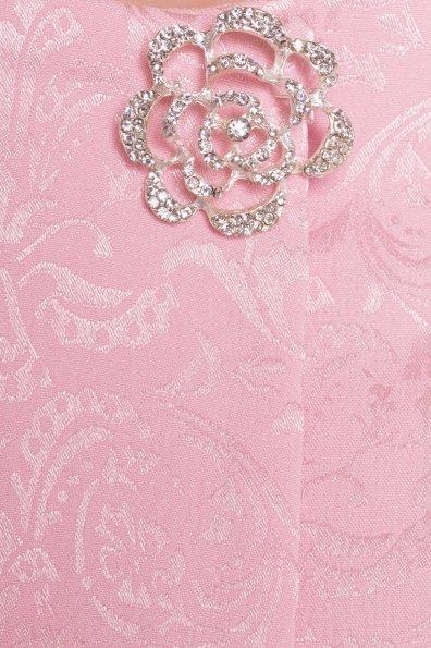 Свободный плащ со скрытой застежкой Фабио 4700 Цвет: Розовый