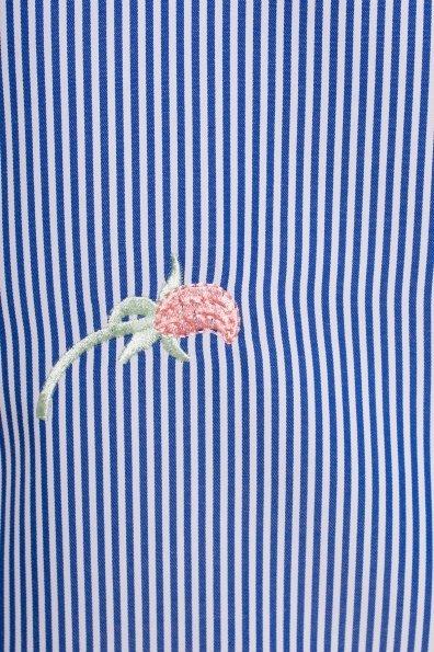 Платье Спейс 4827 Цвет: Белый/синий