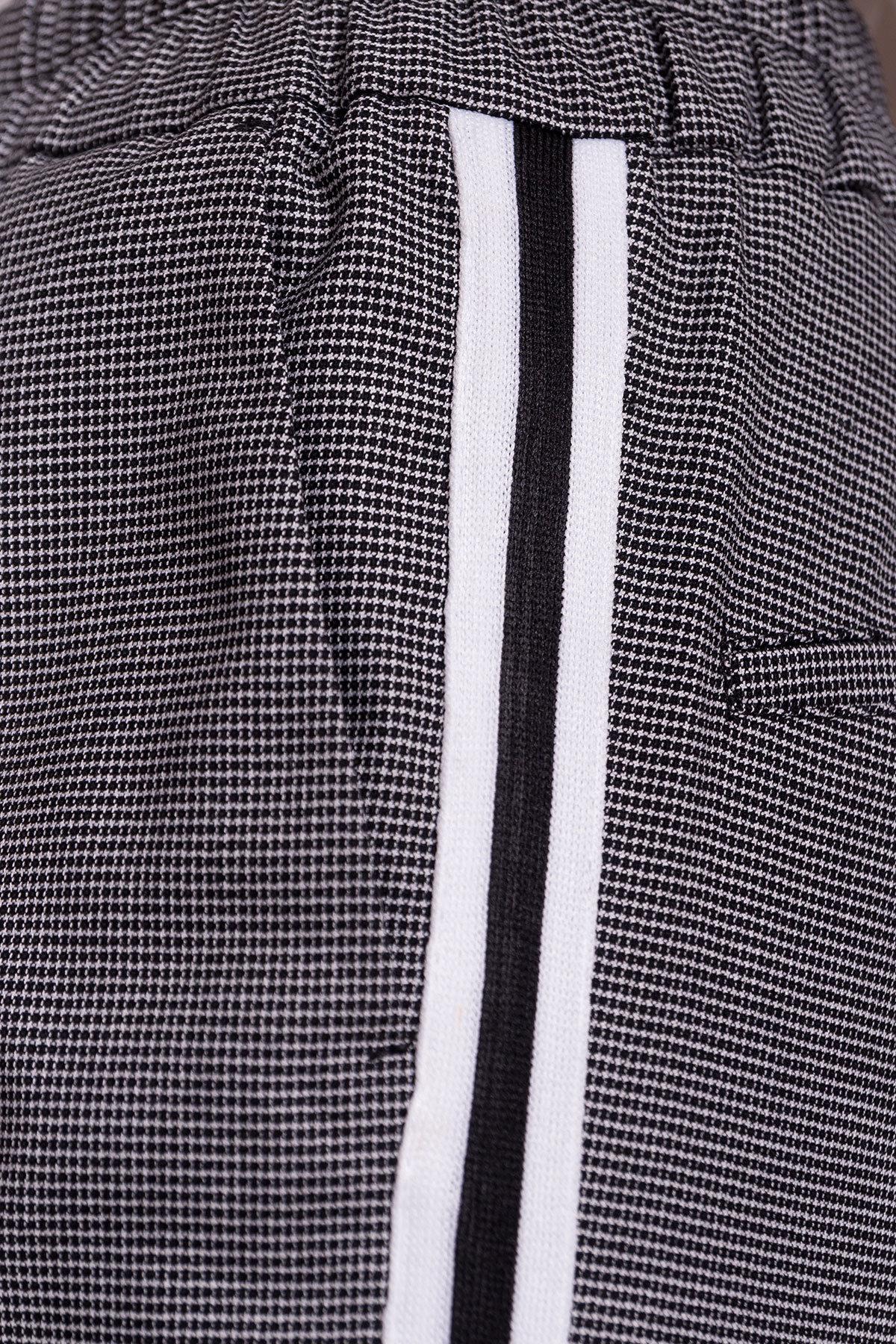 Брюки Джианни 4721 Цвет: Черный/белый клетка