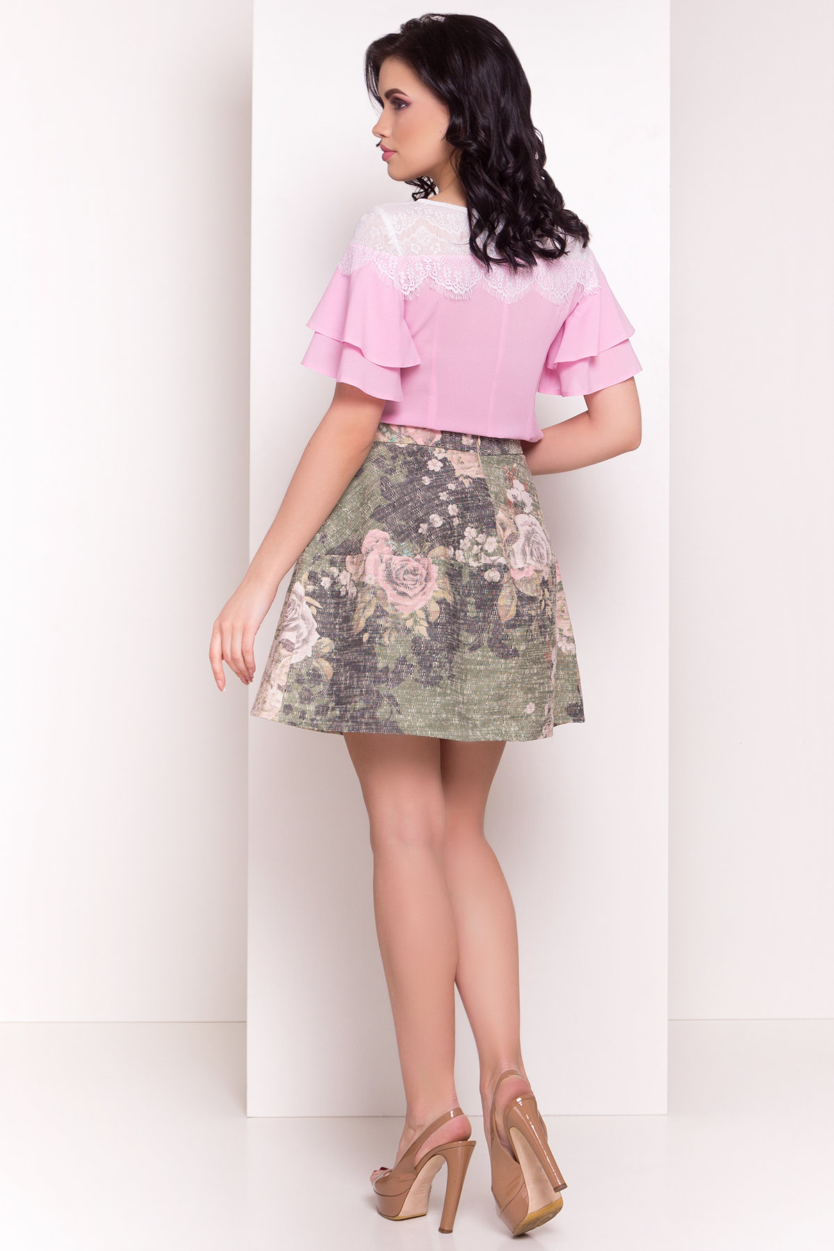 Блуза Ирис 4835 АРТ. 34576 Цвет: Розовый - фото 2, интернет магазин tm-modus.ru