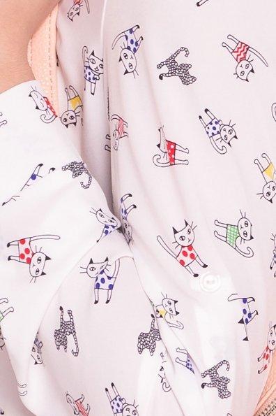 Рубашка Тиар 4808 Цвет: Молоко коты