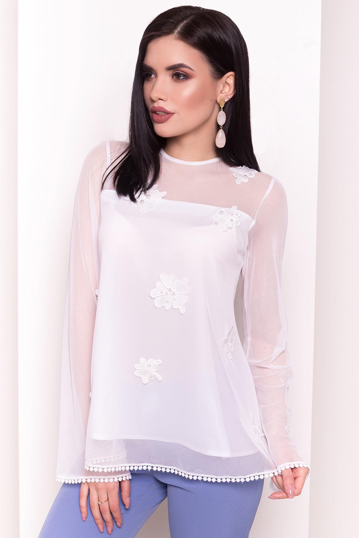 Двухслойная блуза Инга 3237 Цвет: Белый