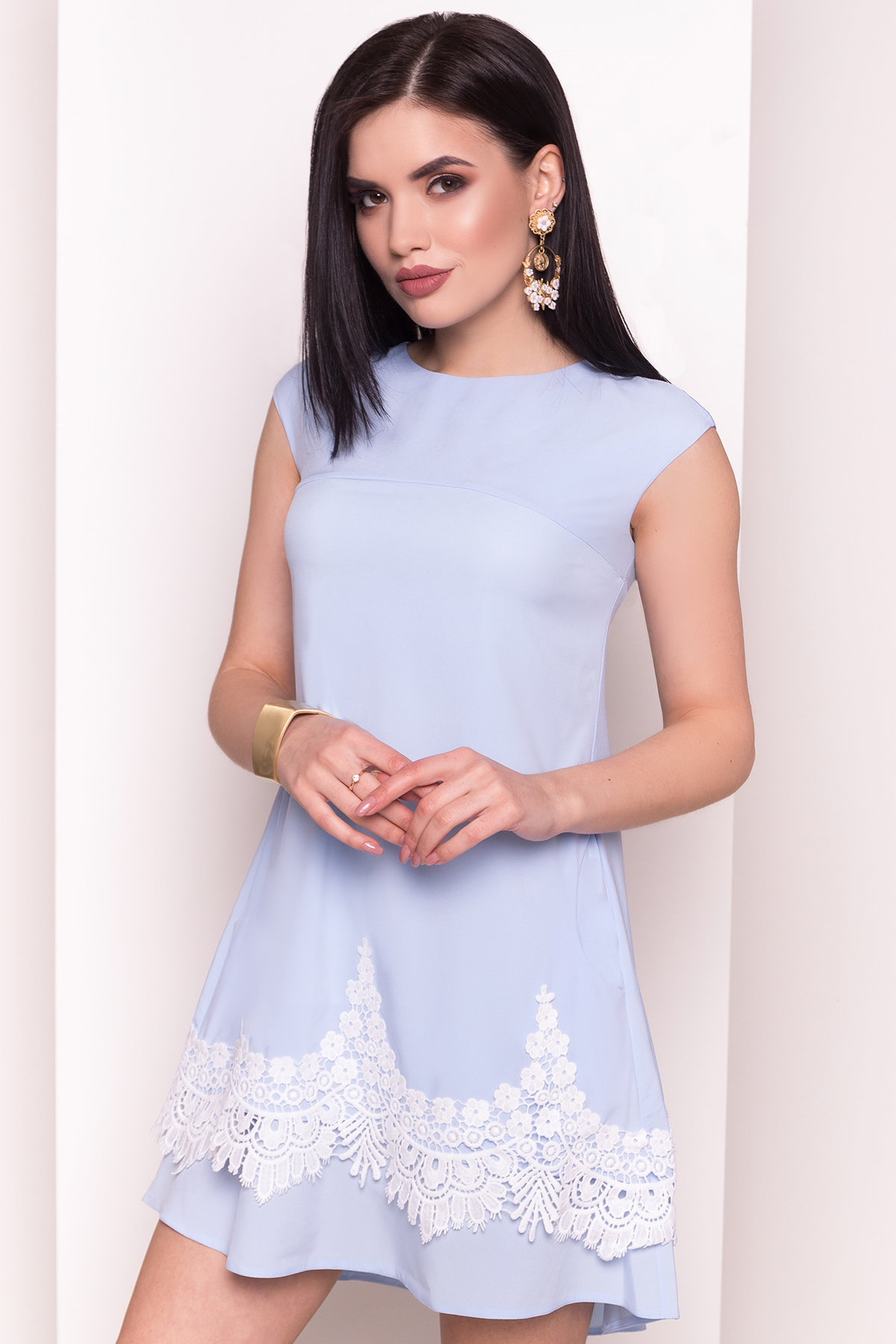 Платье Арвель 4894 АРТ. 34785 Цвет: Голубой - фото 2, интернет магазин tm-modus.ru
