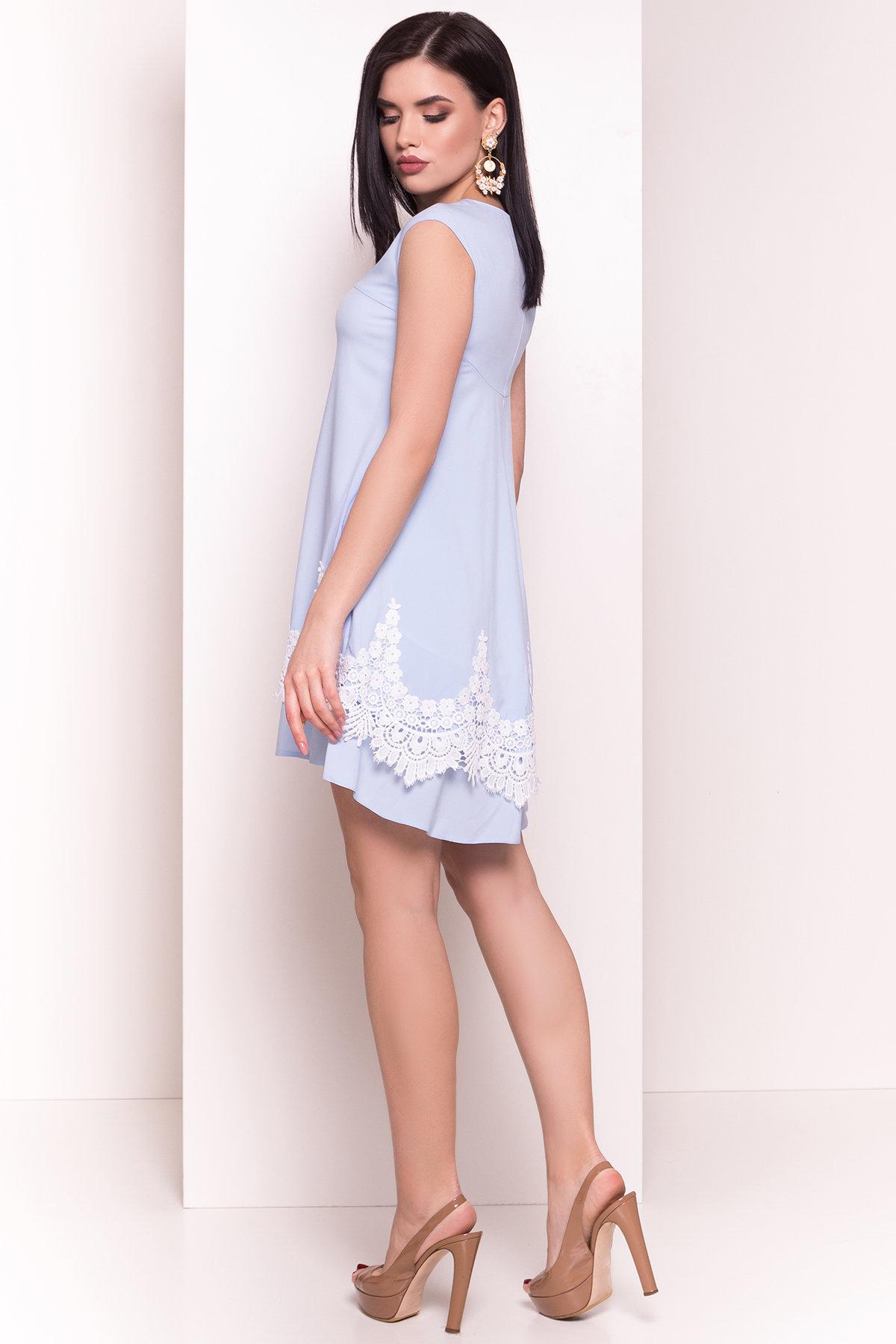 Платье Арвель 4894 АРТ. 34785 Цвет: Голубой - фото 3, интернет магазин tm-modus.ru